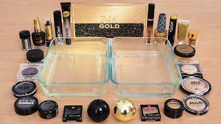 Black vs Gold - Mixing Makeup Eyeshadow Into Slime ASMR! Satisfying Slime Video
