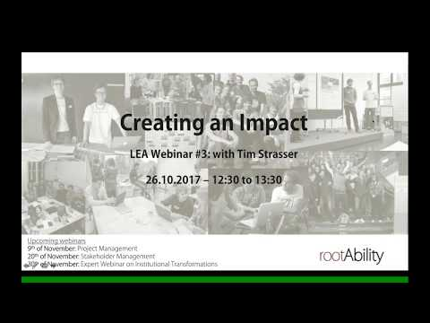 Creating an Impact - by Tim Strasser