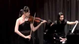 Yu-Hsin Lin (violin) and Hiroyo Hatsuyama (piano) performs at 12th ...