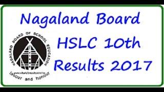 Nagaland Board HSLC Result 2017, NBSE HSLC Result 2017 Date