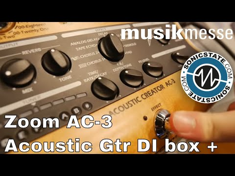MESSE 2018: Zoom AC-3 Acoustic 'Creator' Guitar Interface