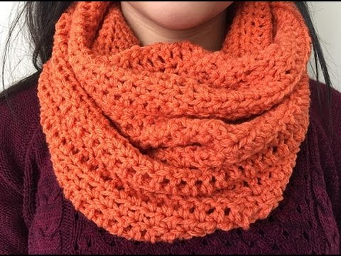Crochet Simple Easy Cowl Youtube