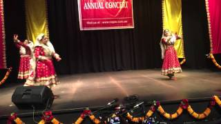 Kathak students performing on a fusion music piece @ Ragas Annual Concert 2015