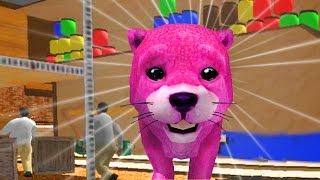 Смотреть Собака СИМУЛЯТОР 🐶🐶 веселое РАЗВЛЕКАТЕЛЬНОЕ ВИДЕО для детей Маленький розовый щенок#ИГРУЛЯ онлайн