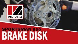 How to Replace Brake Disc & Bearing on Polaris ATV | Partzilla.com