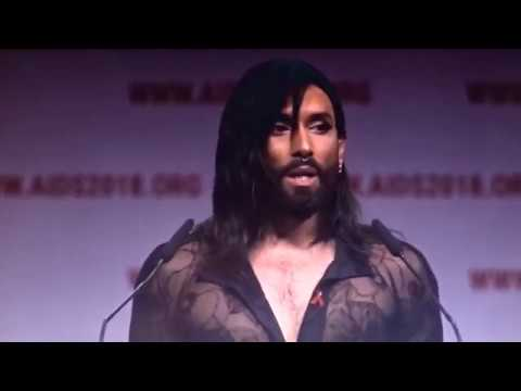 Conchita's speech at the 22nd International AIDS Conference in Amsterdam2018 - 23.07.2018 #AIDS2018