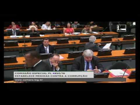 PL 4850/16 - ESTABELECE MEDIDAS CONTRA A CORRUPÇÃO - Reunião Deliberativa - 29/08/2016 - 14:45