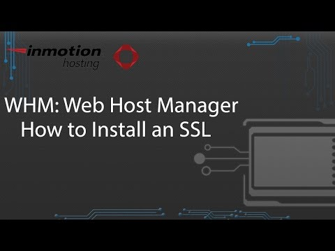 How to Install an SSL in WHM