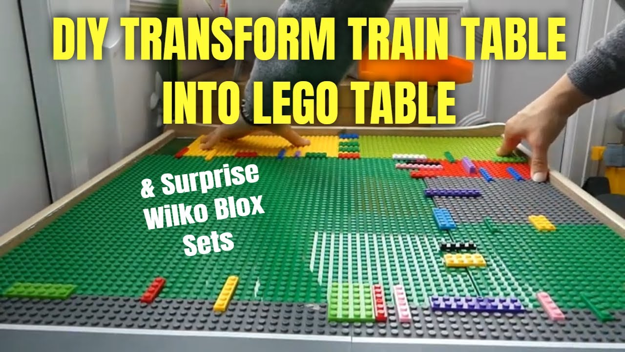SUPRISE TOYS U0026 How To Make A Lego Table / Transform Train Table DIY