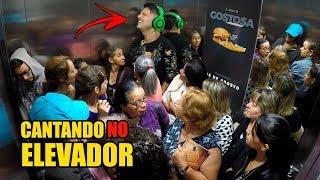 CANTEI ALTO NO ELEVADOR E ASSUSTEI TODO MUNDO