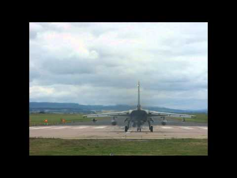 RAF Tornado GR4 Jet take off and low pass. (EC)