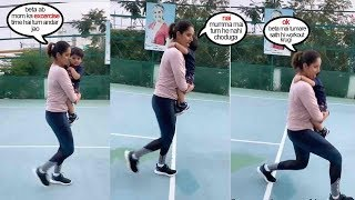 Sania Mirza Shows CUTE Way Of Exercising As A Mother When Son Izhaan Refuses To Let Go