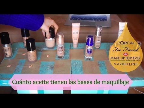 Descubre cuánto aceite-grasa tienen las bases de maquillaje