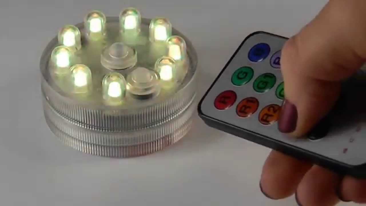 Sumix 9 Water Proof Rgb Led Accent Light Battery Operated W Remote