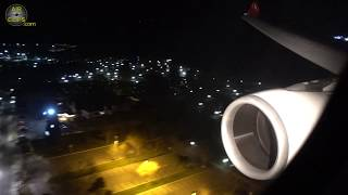 AMAZING Turkish Airbus A330 Night Landing into old Istanbul Atatürk Airport [AirClips]