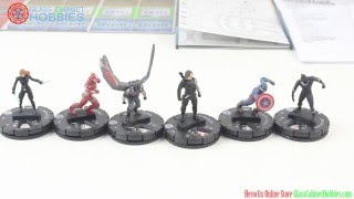 Captain America Civil War Heroclix Starter Set Unboxing