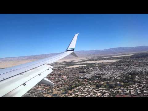 Approach and landing into Palm Springs, little windy! HD
