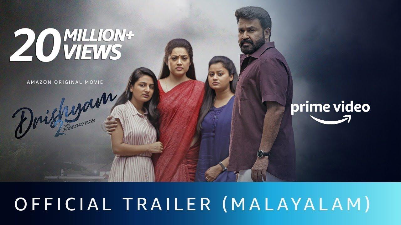 Drishyam 2 - Official Trailer (Malayalam) | Mohanlal | Jeethu Joseph | Amazon Original Movie| Feb 19