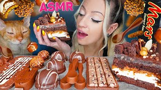 ASMR EATING CHOCOLATE, CAKE, C…