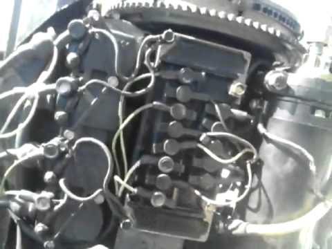 wire loom 50 hp bluband mercury engine MOTOR - YouTube