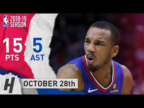 Avery Bradley Full Highlights Clippers vs Wizards 2018.10.28 - 15 Pts, 5 Assists!