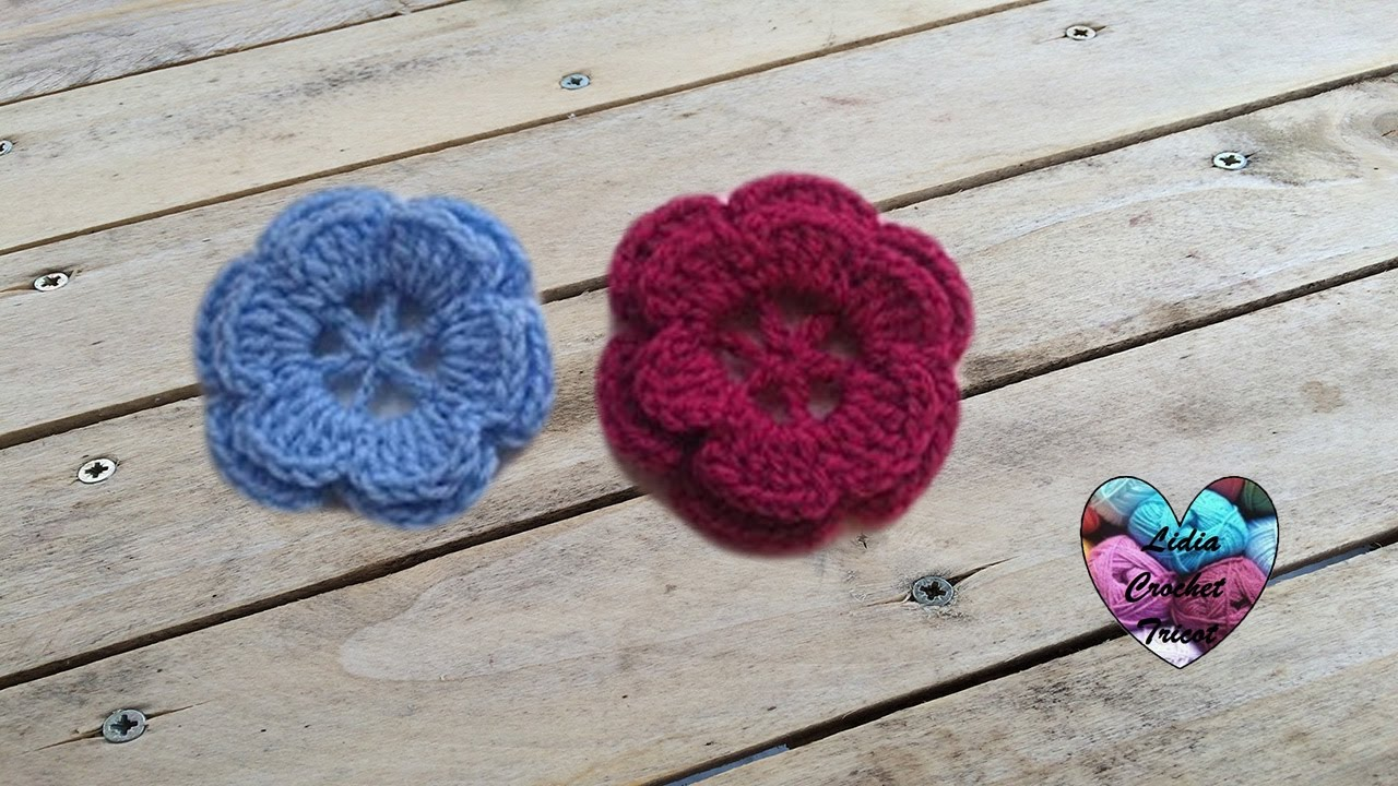 fleur crochet facile flor facil a crochet