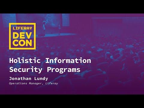 Holistic Information Security Programs