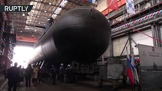 В Санкт-Петербурге торжественно спущена на воду новая подводная лодка «Кронштадт»