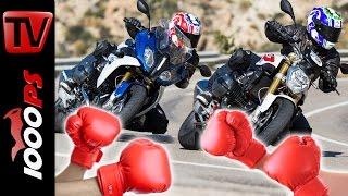 BMW R 1200 RS vs R 1200 R Test | Boxer Vergleich 2016 - BMW Motorrad Test-Camp Almeria 2016