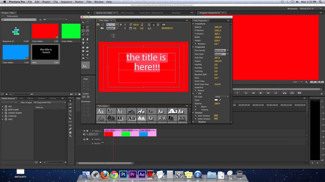 How to create quick titles title templates premiere for Free premiere pro title templates