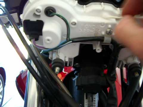 How To Replace A Burned Out Speedometer Bulb On A Honda