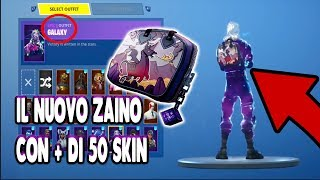 THE NEW ZAINO OF THE DARK BOMBER WITH ALL THE SKIN FORTNITE ITALIA SEASON 6 ALL SKIN