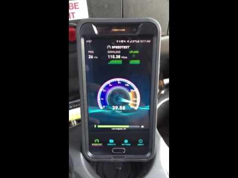 Crazy AT&T 4g lte speeds