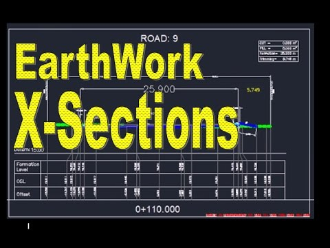 how to draw manual earthwork cross sections and calculations by average end area method in autocad