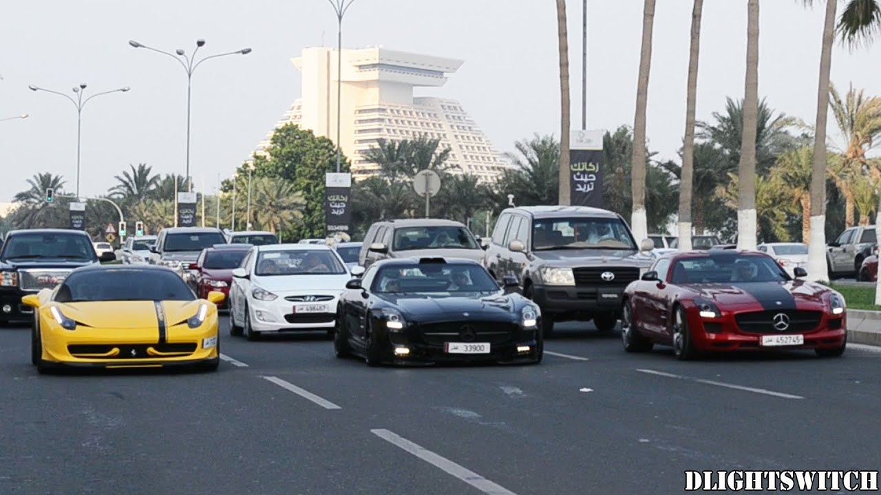 Super & Luxury Cars on the Corniche - Part 1 (2013) - YouTube