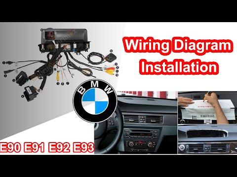 Android 10 BMW 3 Series E90 E91 E92 E93 Navigation GPS Installation Wire Connection