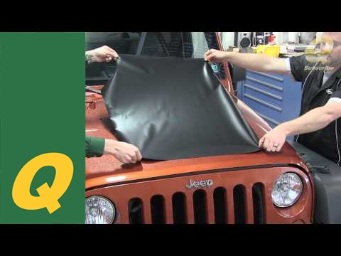 Quadratec Vinyl Hood Blackout For Jeep Wrangler Jk Install