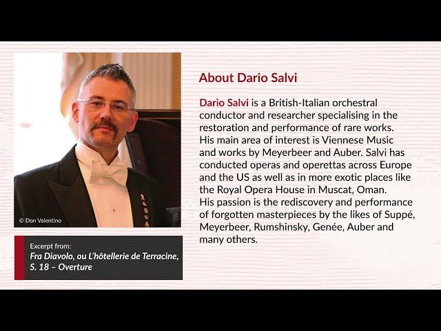 Dario Salvi conducts opera overtures by Daniel-François-Esprit Auber (Vol. 4)
