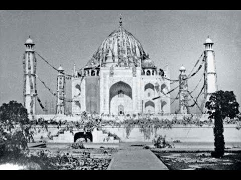 Ancient Taj Mahal and Very Old  Agra city  in 1800's