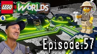 Let's Play Lego Worlds: Episode 57: Sheila and Agent Chase Build a Moon Base!