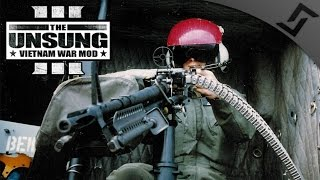 Doorgunner on a UH-1 Huey - ARMA 3 Unsung Vietnam Mod Gameplay
