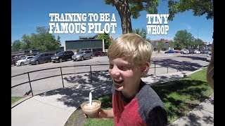 Training to be a Famous Pilot - Tiny Whoop - Opera Galleria and Skating