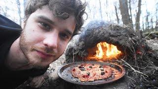 faire une pizza dans la forêt construction du four