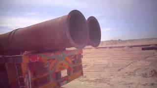 فيديو حصرى مواسير الطرد للكراكات فى القطاع الجنوبي بقناة السويس الجديدة