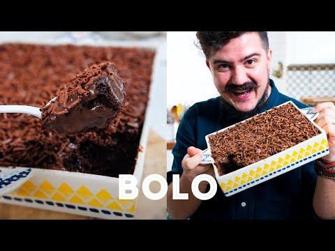BOLO DE CHOCOLATE FÁCIL E RÁPIDO DA CRIS | RECEITAS VIRAIS | BIGODE SOZINHO NA COZINHA
