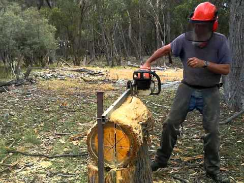 Quarter-Cut Milling Timber, With Chainsaw And Guide-Rail    - YouTube