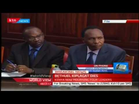 South Sudan Deputy Amb. Jimmy Makwach speaks of Amb. Bethuel Kiplagat