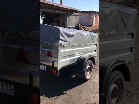 Видео отзыв прицепа Титан с доставкой в Новгородскую область г. Боровичи!