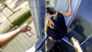STUCK ON A ROOF - PARKOUR FAIL - GoPro HERO4