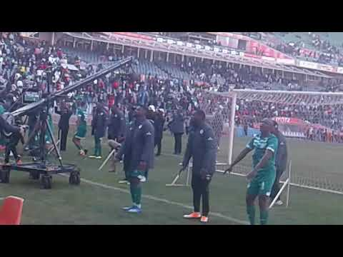 Bloem Celtic players singing with supporters after the match💚💚💚
